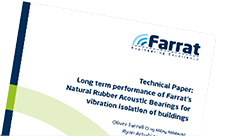 Farrat Technical Guide: Long Term Performance of NR Bearings