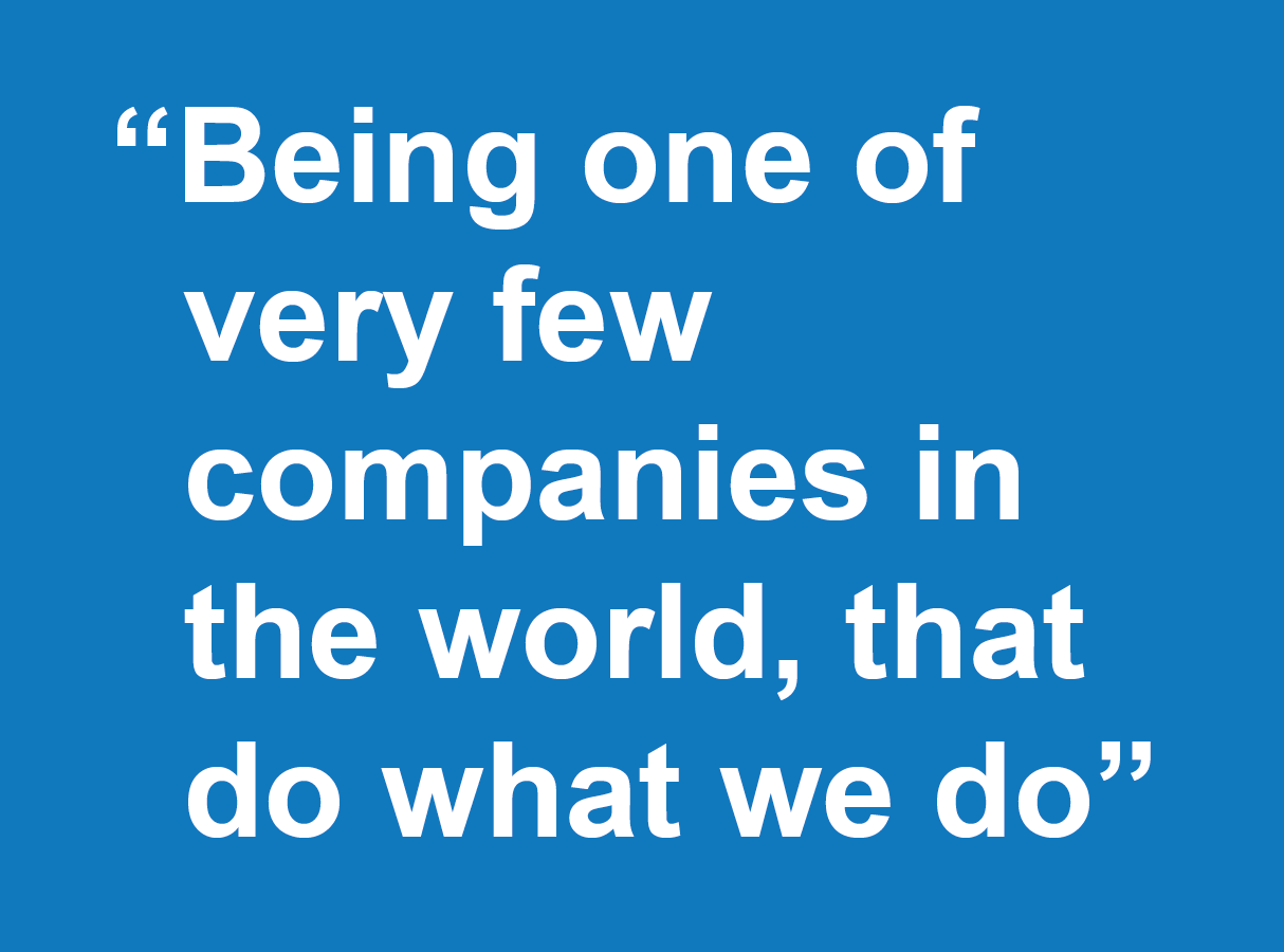 Why join Farrat-being one of very few companies in the world that do what we do