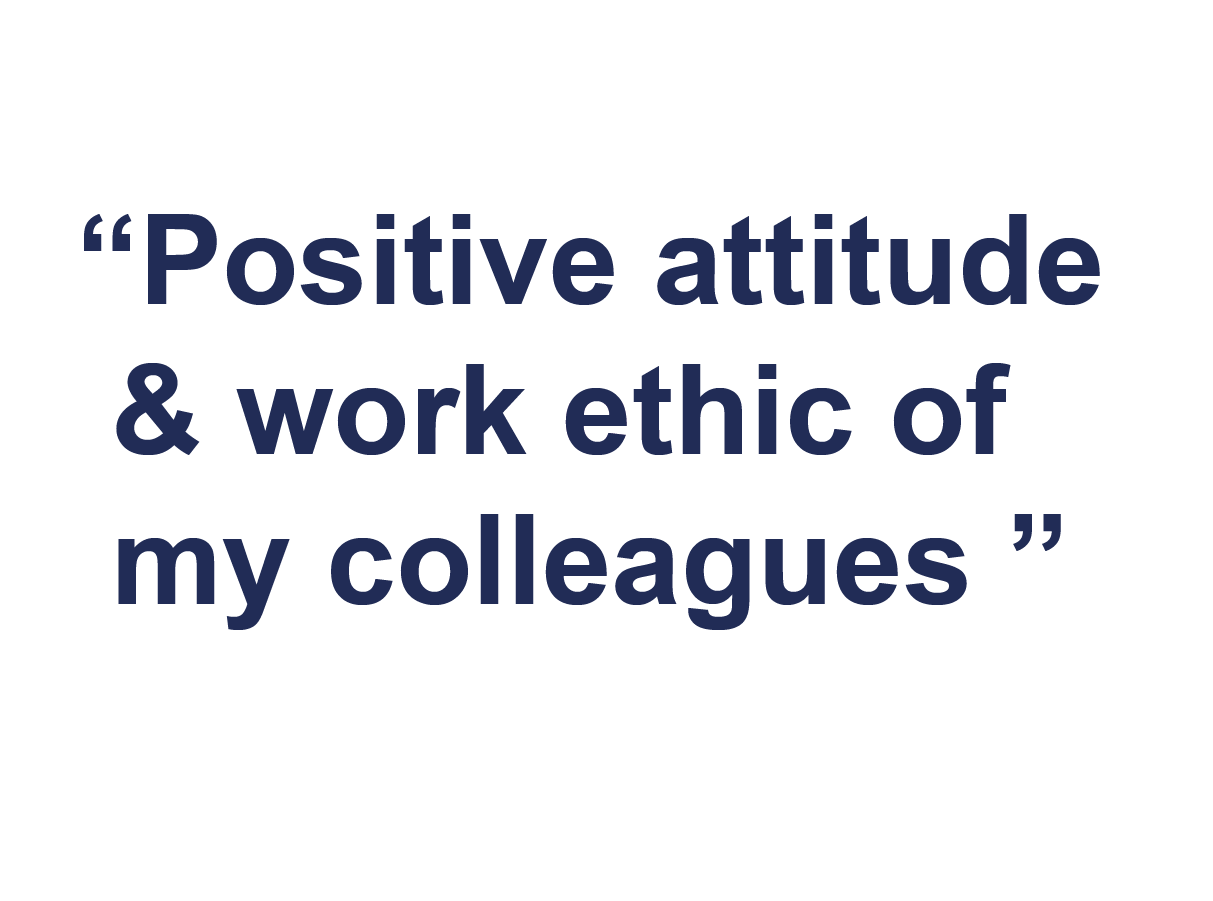 Why join Farrat-positive attitude and work ethic of my colleagues