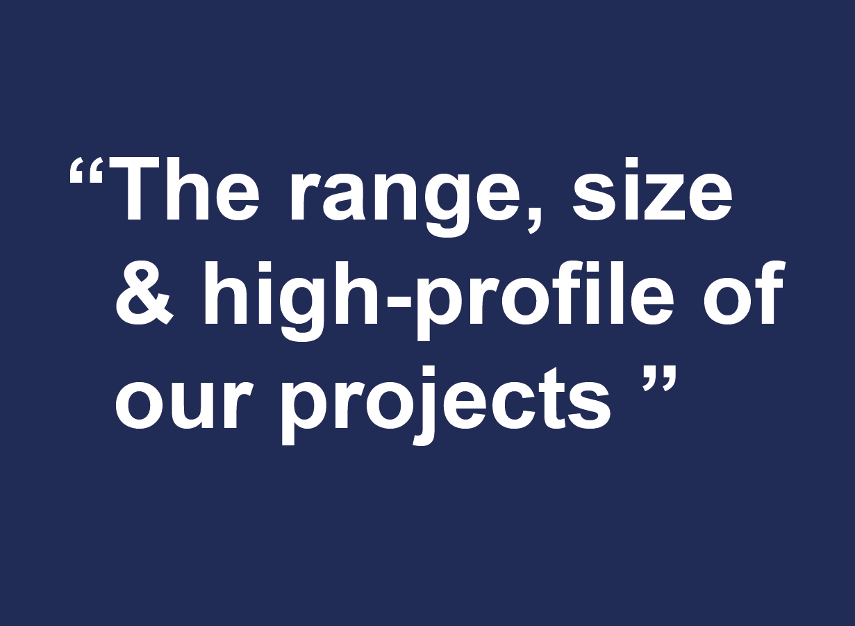 Why join Farrat-range, size and high-profile of our projects