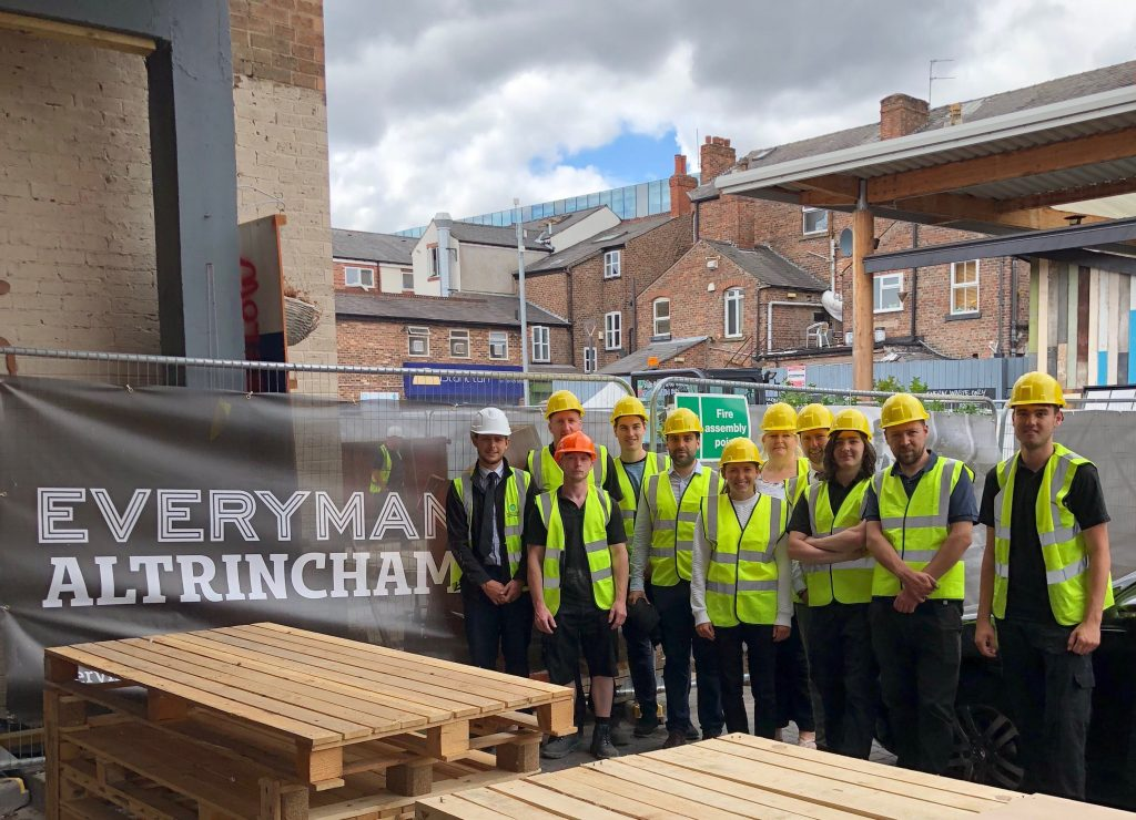 Farrat site visit to the new Everyman cinema currently being built in Altrincham
