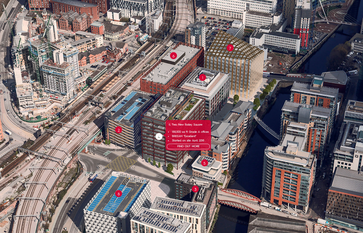 New Bailey Scheme Masterplan - courtesy of Cushman & Wakefield