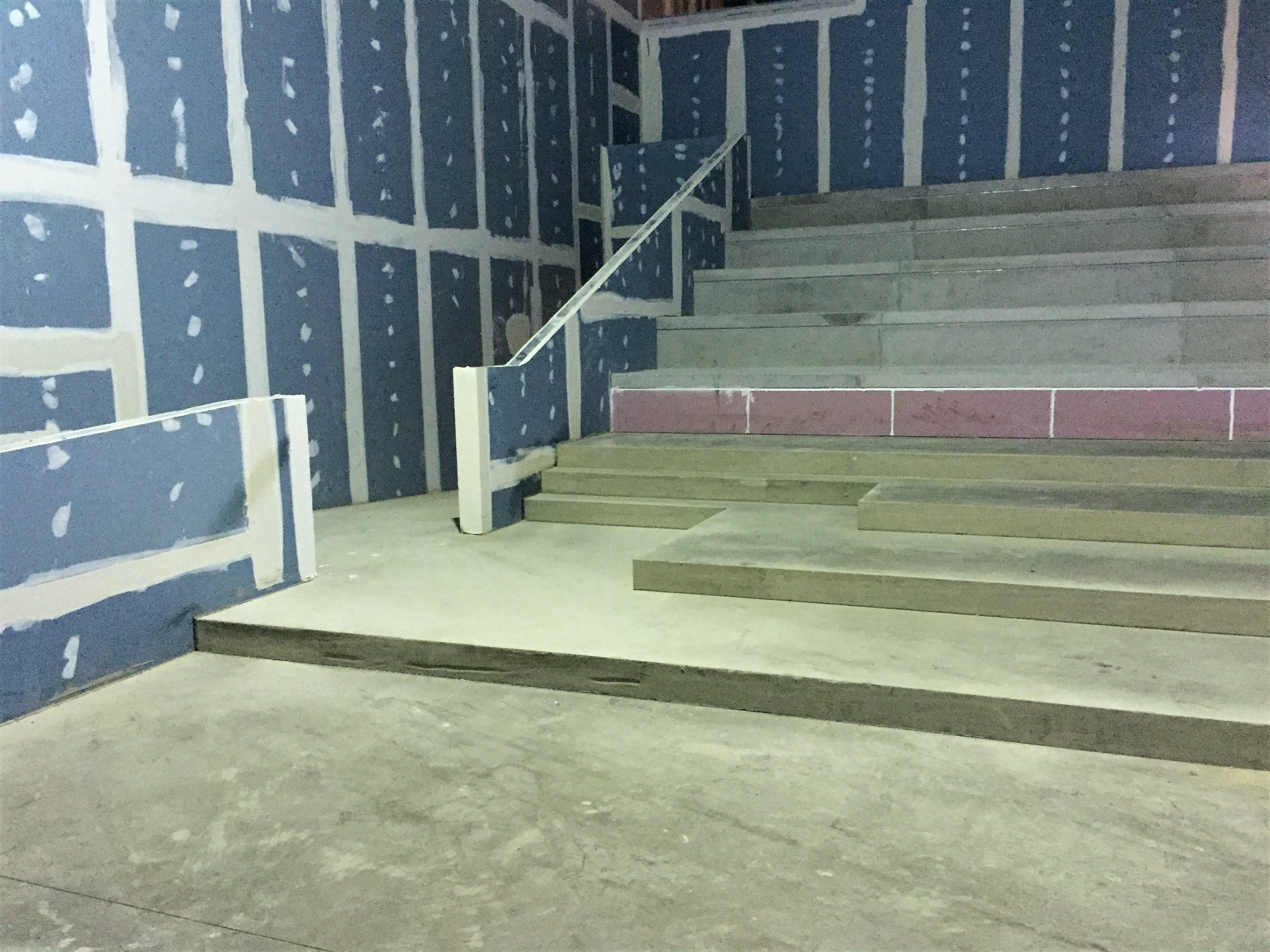 CineWALL Acoustic Isolation Strips installed on a cinema